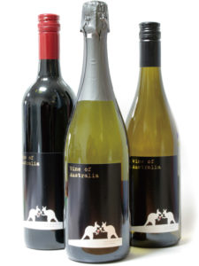 カンガルーのワインボトルラベル